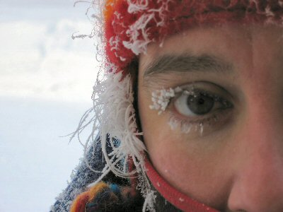 frozen eyelashes